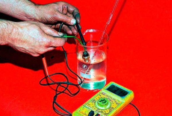 Проверка датчика с термометром