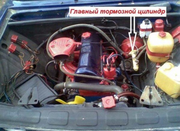 Расположение тормозного цилиндра