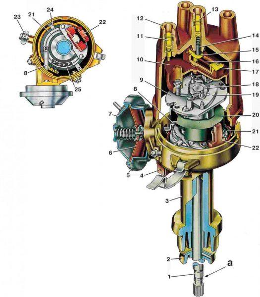 Конструкция контактного трамблёра