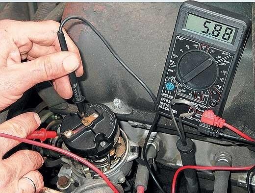Измерение сопротивления резистора бегунка