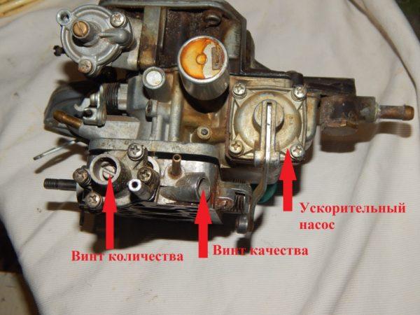 Винты количества и качества на карбюраторе ВАЗ 2107