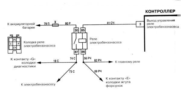 Схема подключения электробензонасоса