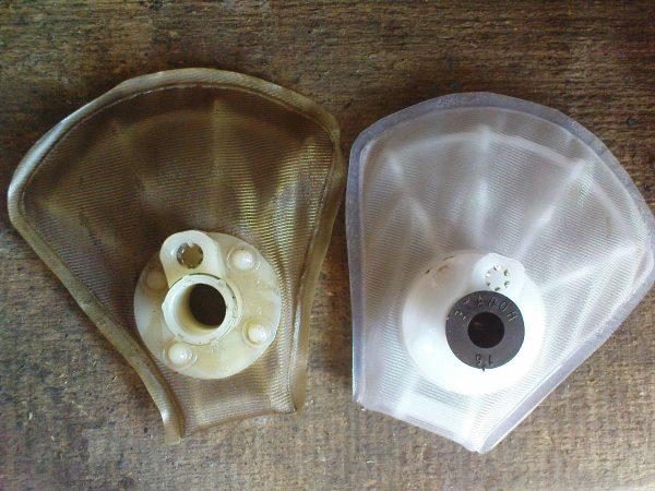 Старый и новый фильтры грубой очистки