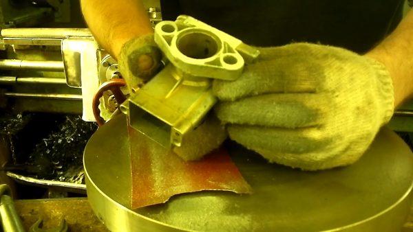Процесс шлифовки