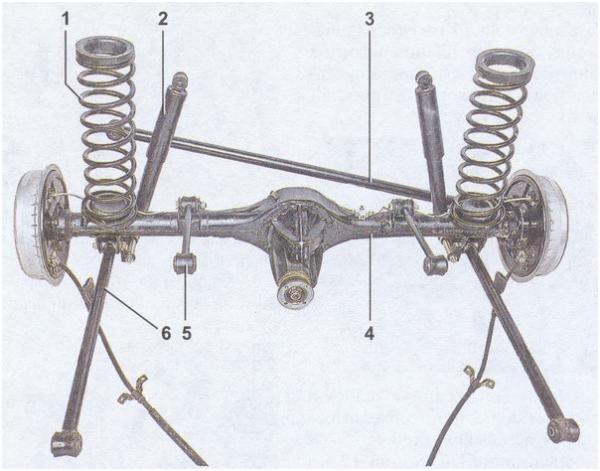 Схема задней подвески