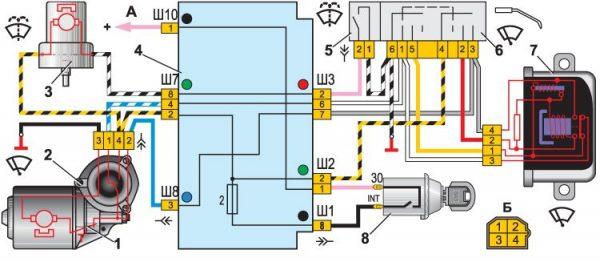 Схема включения дворников