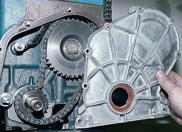 Снятие передней крышки мотора