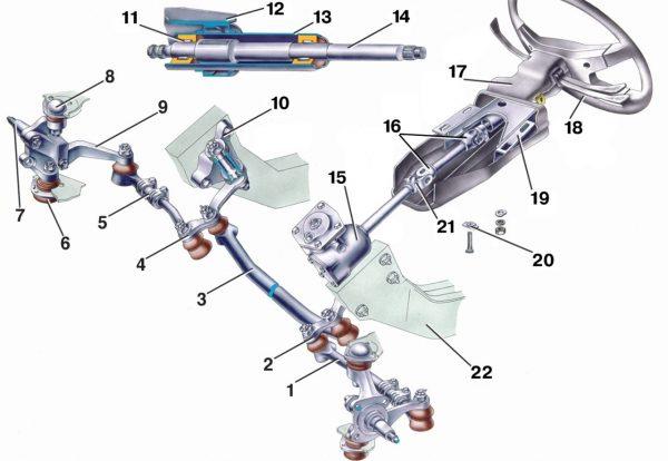 Рулевое управление ВАЗ 2107