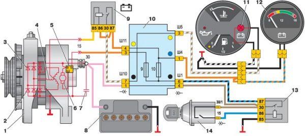 Схема генератора Г-222