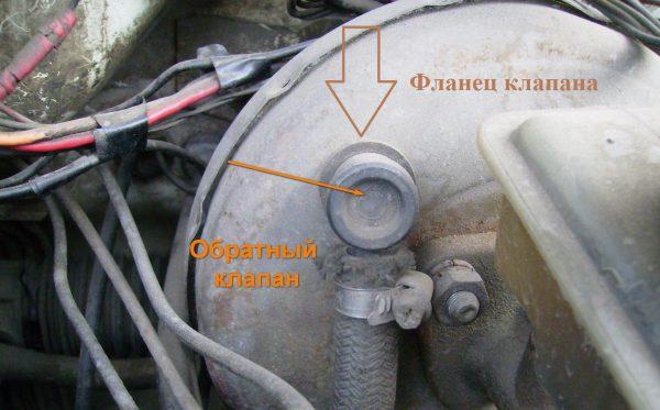 Обратный клапан и его фланец
