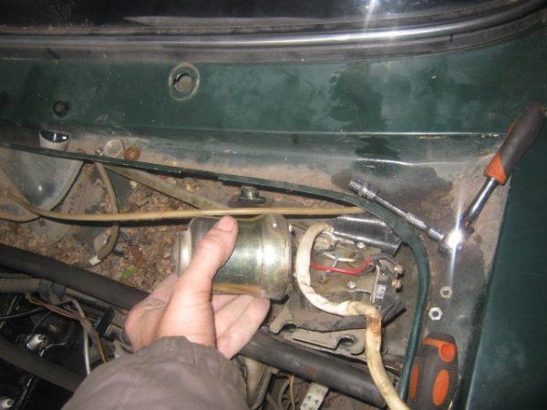 Демонтаж моторчика