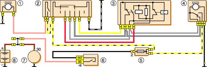Схема стеклоочистителя (включая бачок омывателя) Газель