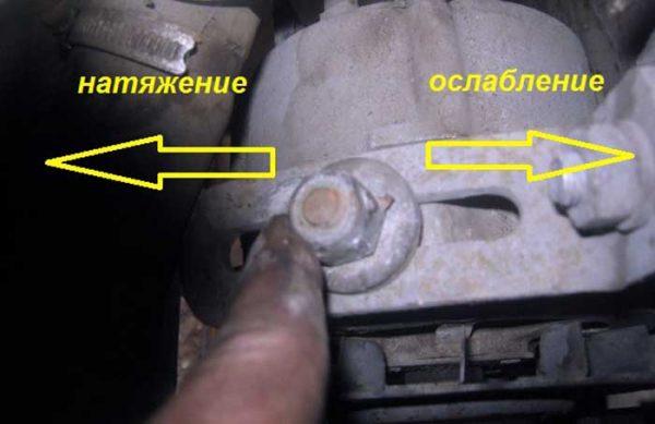 Как ослабить ремень привода генератора на ВАЗ 2106