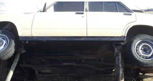 ВАЗ 2107 с самодельным порогом