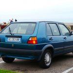 VW Golf II на парковке