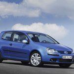 Голубой VW Golf 5