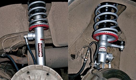 Амортизаторы SS 20, установленные на VW Bora