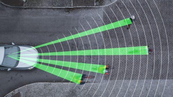 Обнаружение пешеходов перед автомобилем