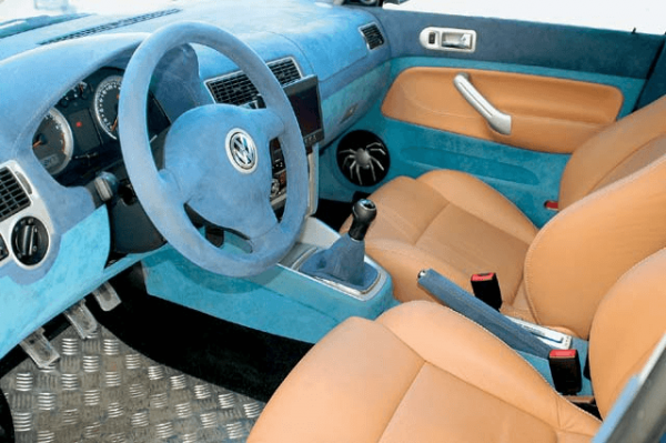 Флокирование салона VW Bora