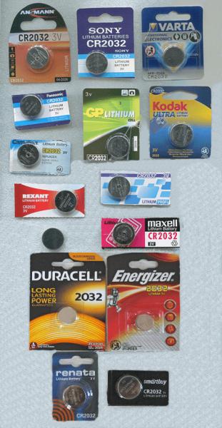 Дисковые батарейки CR2032 15 разных брендов