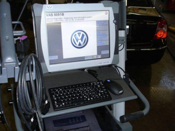 Компьютер на стенде Volkswagen