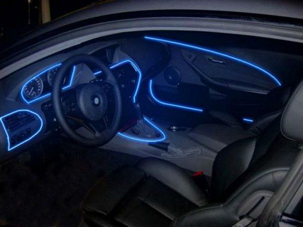 Салонное освещение на светодиодной неоновой ленте