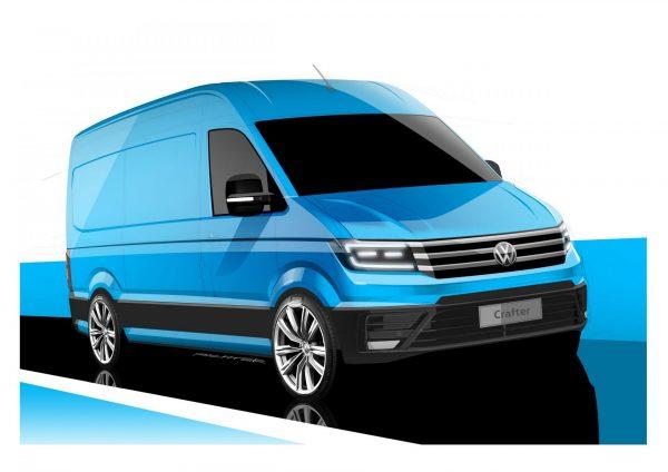 Дизайнерский набросок модели Volkswagen Crafter