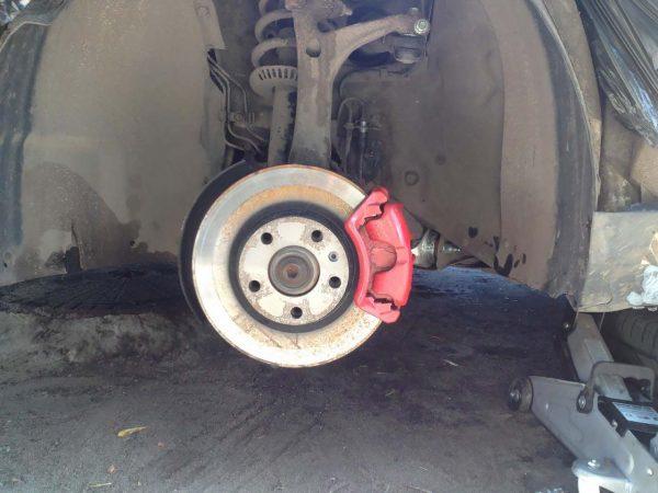 Тормозной барабан снятого колеса