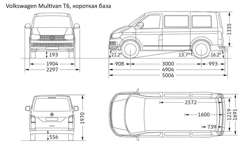 Габариты фольксваген транспортер т6 короткая база зеркало для фольксваген транспортер т5
