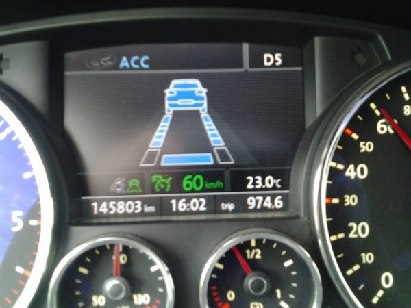 Адаптивный круиз-контроль VW Touareg