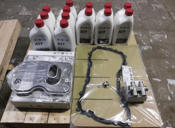 Масло, прокладка, фильтр АКПП VW Touareg, термостат и резьбовые пробки