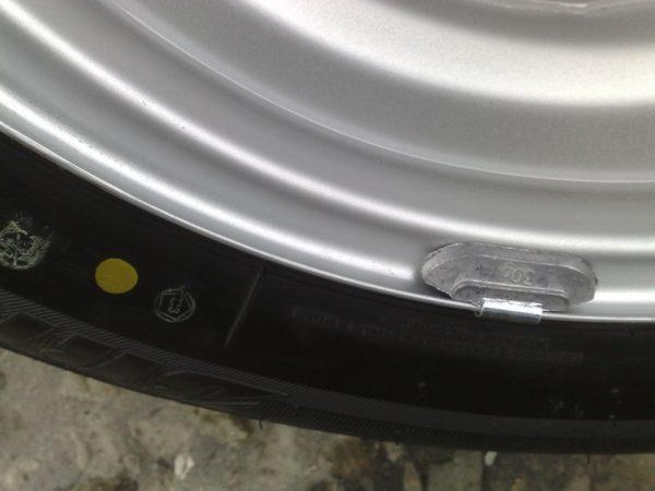 Жёлтая метка на шине