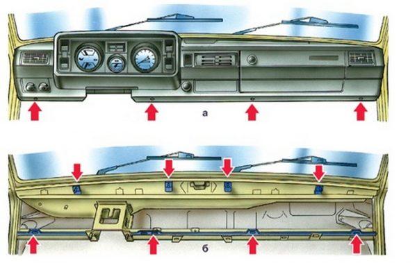 Крепление торпеды