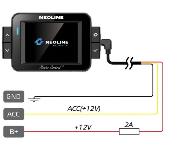 Схема подключения NeoLine X-Cop 9100S