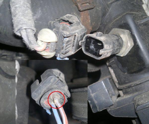При запуске двигателя включается вентилятор охлаждения