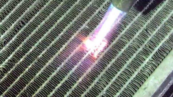 Разогревание радиатора