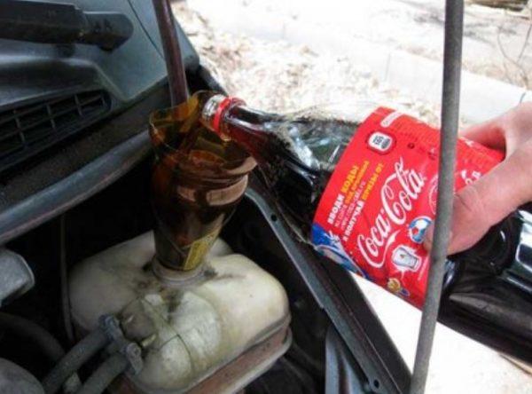 Промывка кока-колой