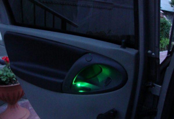 Подсветка дверных ручек
