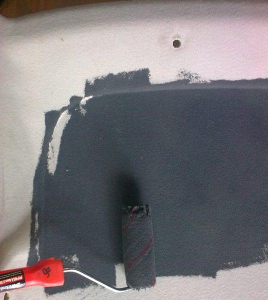 Окрашивание потолка «десятки»