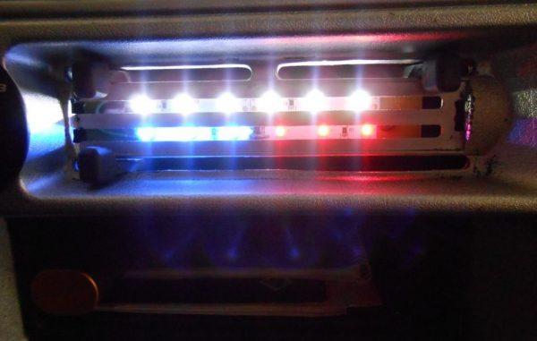Печная подсветка на ВАЗе 2114