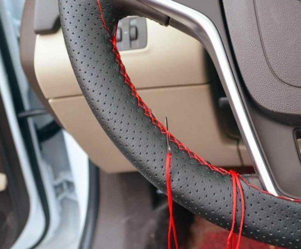 Сшивание рулевой оплётки